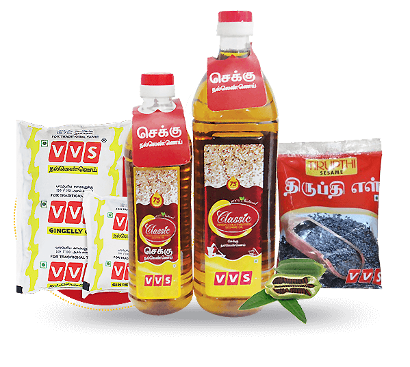 VVS traditional food products Nallennai Cold pressed Sesame oil healthy organic pure til oil
